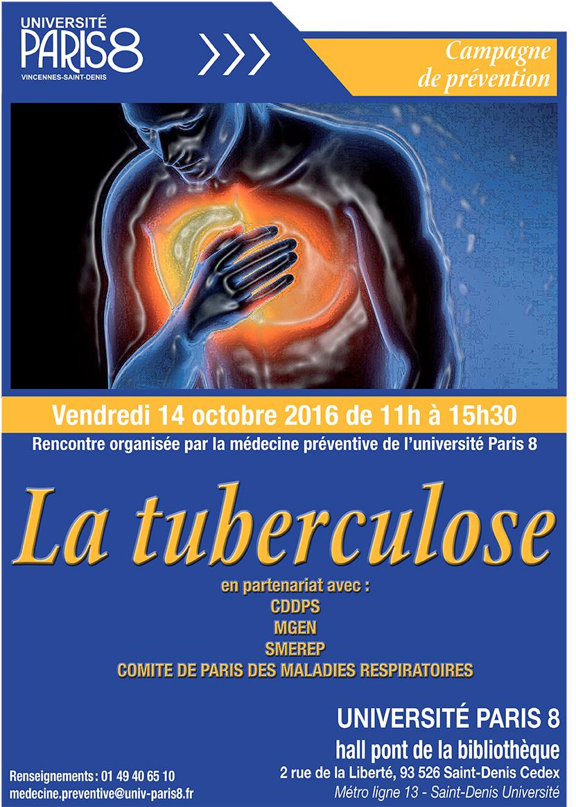Campagne d'informations sur la tuberculose - Université Paris 8